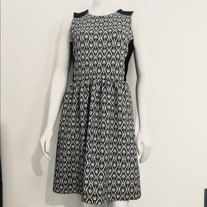 Madewell Diamond Jacquard Flare Dress